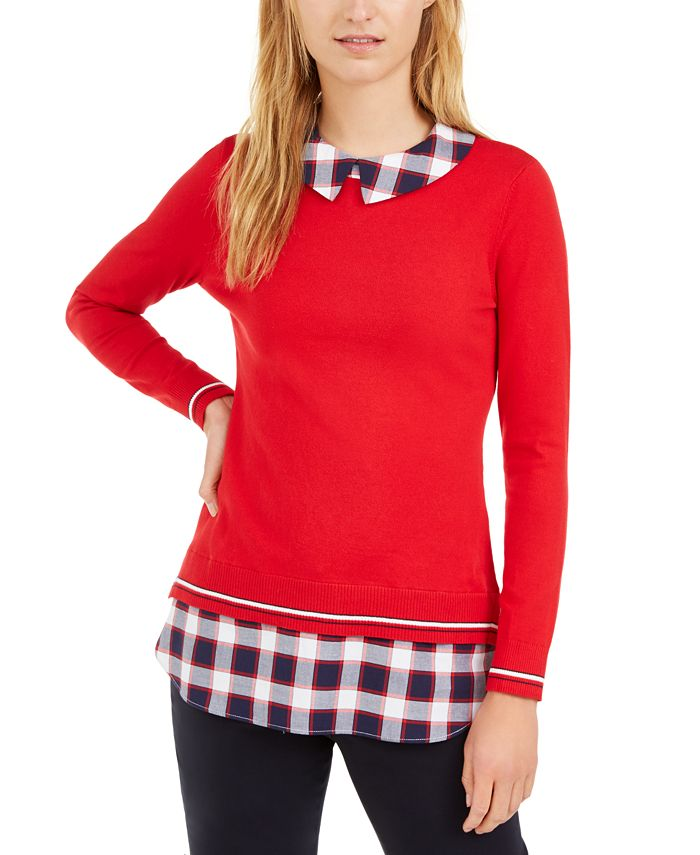 Tommy Hilfiger - Cotton Layered-Look Sweater