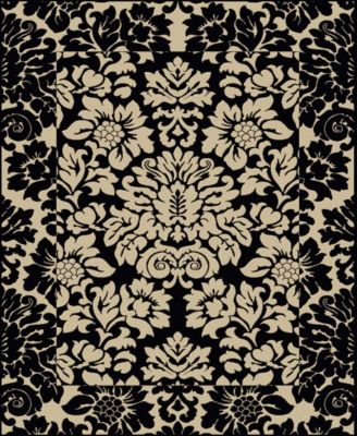"CLOSEOUT! 1717/1221/ABSO-BLACK Pesaro Black 5'5"" x 7'7"" Area Rug"