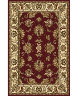 "CLOSEOUT! 1330/1230/BURGUNDY Navelli Red 3'3"" x 5'4"" Area Rug"