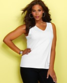 INC International Concepts Plus Size Top Sleeveless Jersey Tank