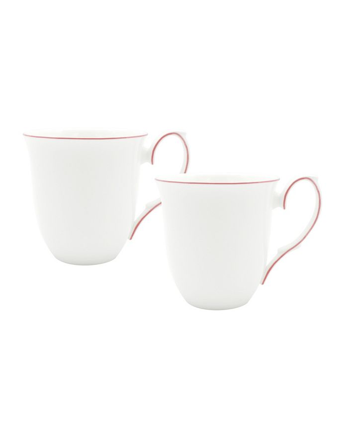 Twig New York - Amelie Roseate Rim Set of Two Mugs