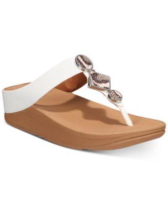 Leia Leather Toe-Thongs Sandal