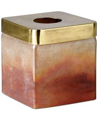 Torched Tissue Box Holder