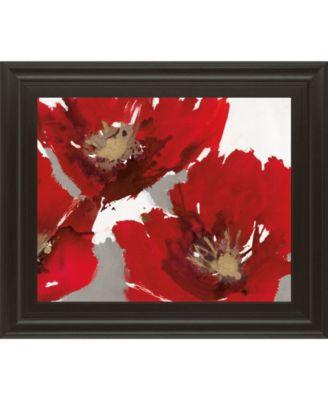 "Red Poppy Forest II by N. Barnes Framed Print Wall Art - 22"" x 26"""