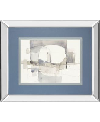 "Improvisation I Gray Crop by Mike Schick Mirror Framed Print Wall Art - 34"" x 40"""