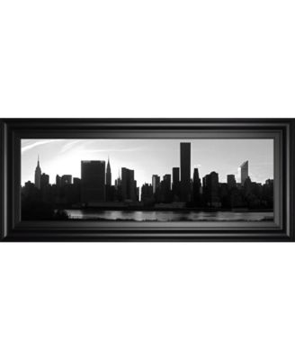 """Panorama of Nyc VI by Jeff Pica Framed Print Wall Art - 18"""" x 42"""""""