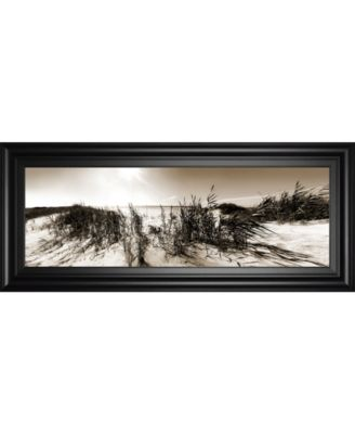 """The Wind in The Dunes I by Noah Bay Framed Print Wall Art - 18"""" x 42"""""""