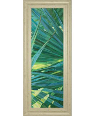 """Fan Palm II by Suzanne Wilkins Framed Print Wall Art - 18"""" x 42"""""""