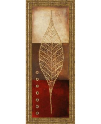 """Fossil Leaves Il by Patricia Pinto Framed Print Wall Art - 18"""" x 42"""""""