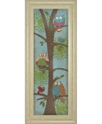 "Fantasy Owls Panel Il by Paul Brent Framed Print Wall Art - 18"" x 42"""