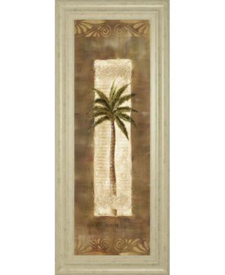 """Scroll Palm Il by Carol Robinson Framed Print Wall Art - 18"""" x 42"""""""