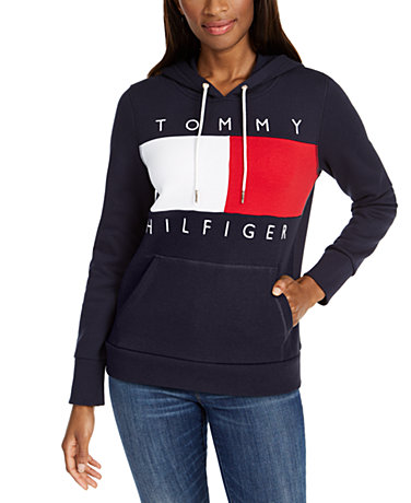 Tommy Hilfiger Colorblock Logo Hooded Sweatshirt