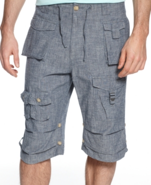 Sean John Big and Tall Shorts Classic Flight Cargo Shorts