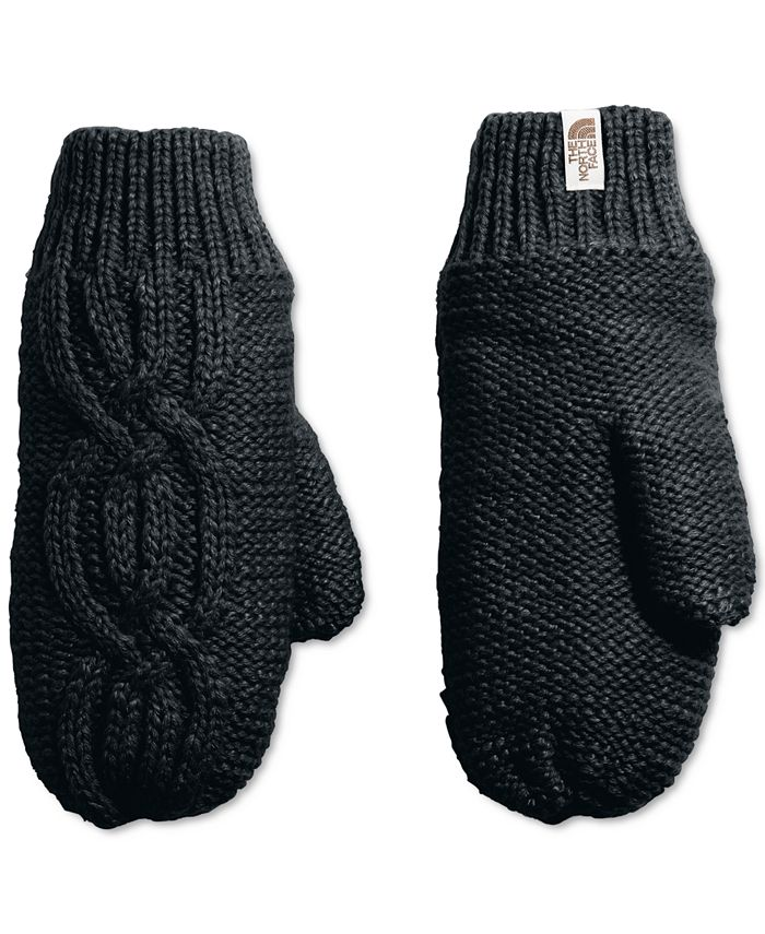 The North Face - Fleece-Lined Cable-Knit Mittens