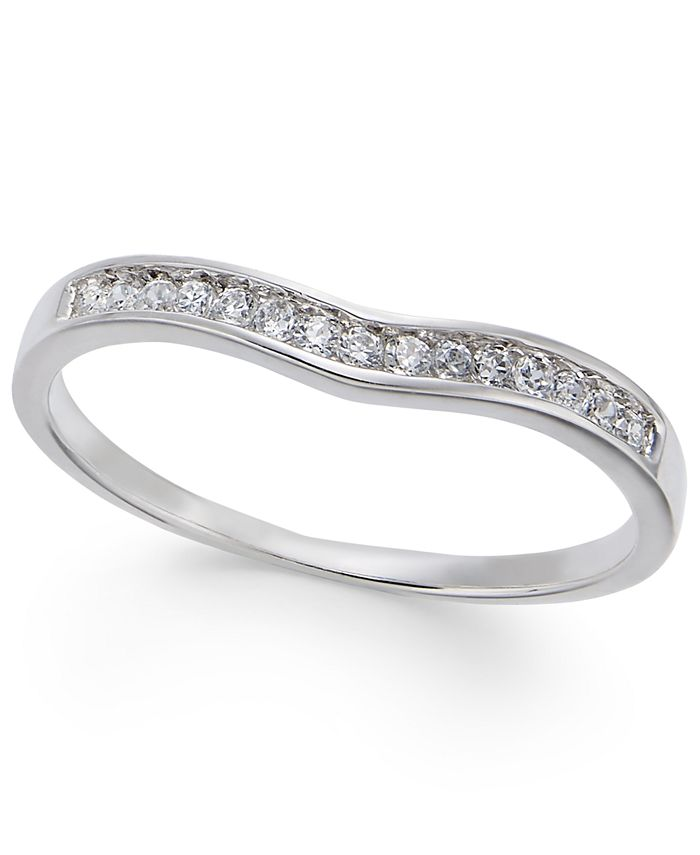 Macy's - Diamond Contour Band (1/3 ct. t.w.) in 14k White Gold