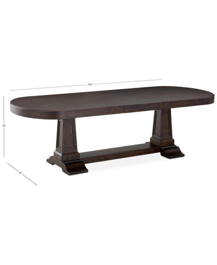 Furniture Charleston Lane Expandable Dining Table & Reviews - Furniture - Macy's