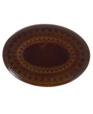 Aztec Brown Oval Platter