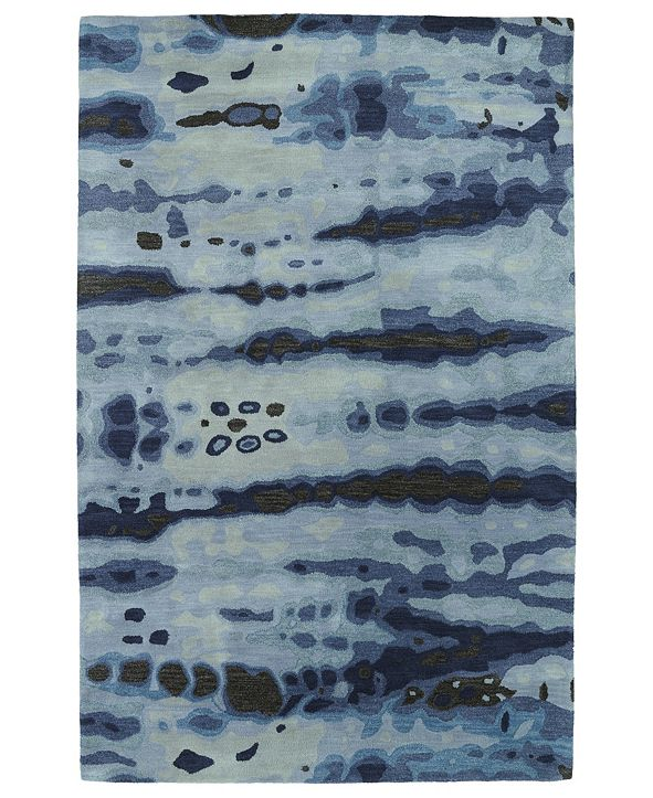 Kaleen Brushstrokes Blue Area Rug Collection