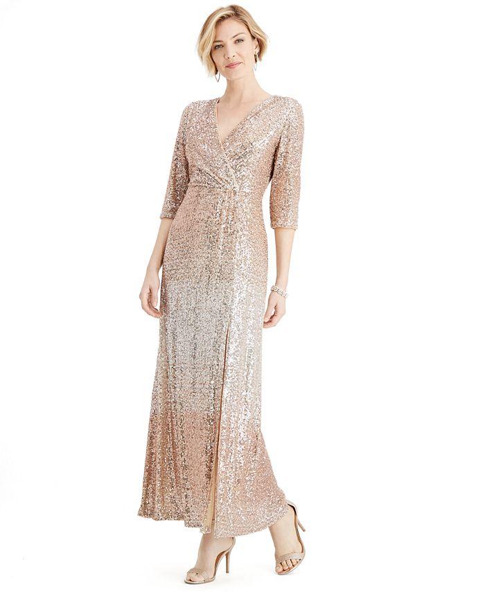 R & M Richards - Ombré Sequin Dress