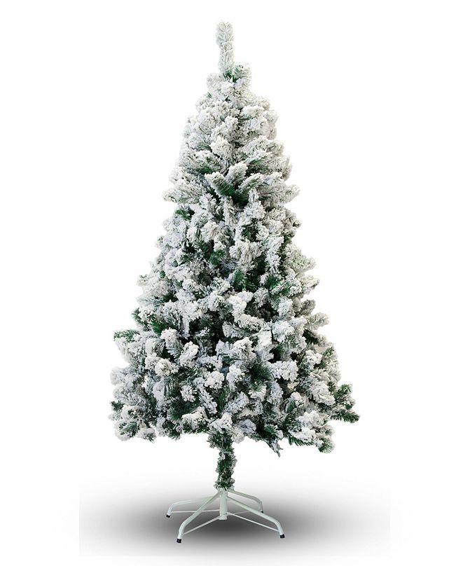 Perfect Holiday 6' Flocked Snow Christmas Tree