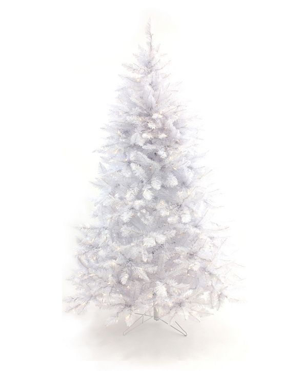 Perfect Holiday 6.5' Pre-Lit White Christmas Tree with Warm White LED Lights