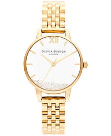 Olivia Burton Women's Wish Gold-Tone Stainless Steel Bracelet Watch 30mm