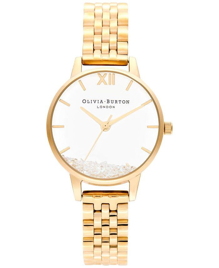 Olivia Burton - Women's Wish Gold-Tone Stainless Steel Bracelet Watch 30mm
