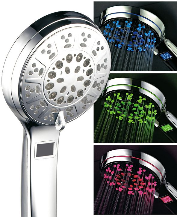 HotelSpa Hotel Spa 3 Color LED Hand Shower with Temperature Display