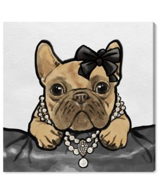 Glam Frenchie Canvas Art, 12
