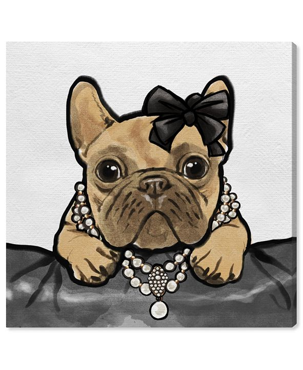 "Oliver Gal Glam Frenchie Canvas Art, 12"" x 12"""