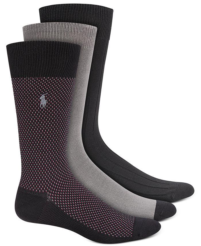 Polo Ralph Lauren - Men's Birdseye Dress Socks, 3-Pk.