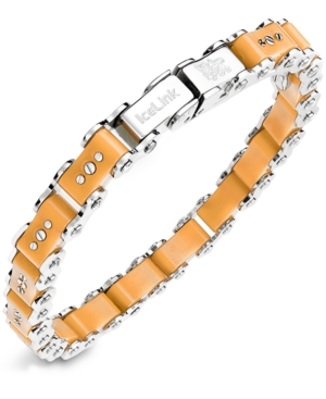 IceLink - Stainless Steel Bracelet, Medium Yellow Bicycle Bracelet
