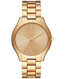 Michael Kors Women's Slim Runway Aluminum Bracelet Watch 42mm, Created for Macy's
