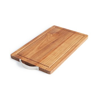 Martha Stewart Collection Wood Cutting Board with Stainless Steel Handle
