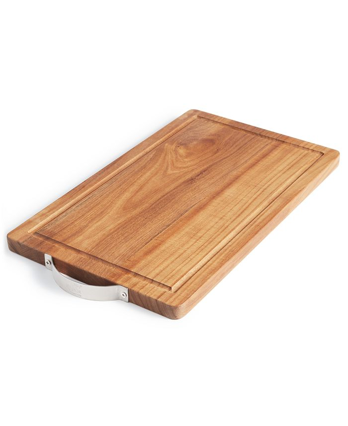 Martha Stewart Collection - Wood Cutting Board with Stainless Steel Handle