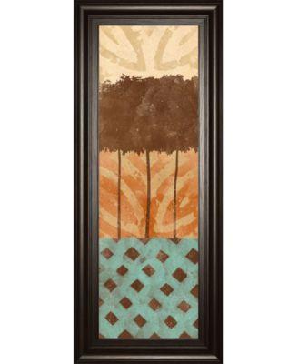 "Tribal Trio II by Alonzo Saunders Framed Print Wall Art, 18"" x 42"""