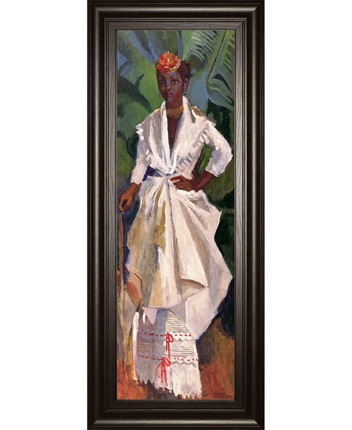 Classy Art Woman In White Ii By Boscoe Holder Framed Print Wall Art 18 X 42 Reviews All Wall Décor Home Decor Macy S