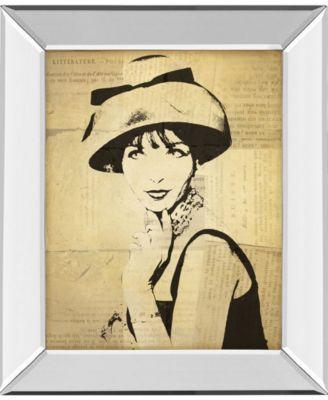 "Fashion News I by Wild Apple Graphics Mirror Framed Print Wall Art, 22"" x 26"""