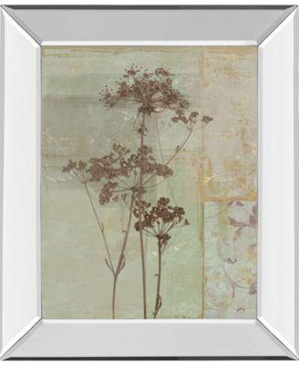 """Silver Foliage II by Ella K. Mirror Framed Print Wall Art, 22"""" x 26"""""""