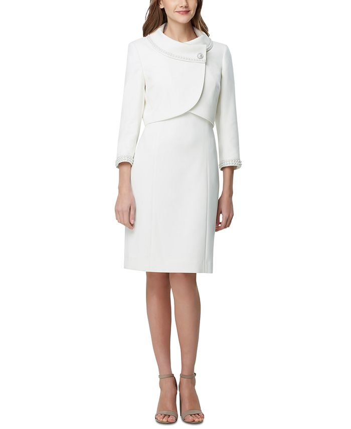 Tahari ASL - Portrait-Collar Jacket & Dress Suit