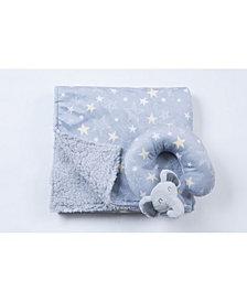 Tadpoles Travel Pillow and Blanket Set, Crib