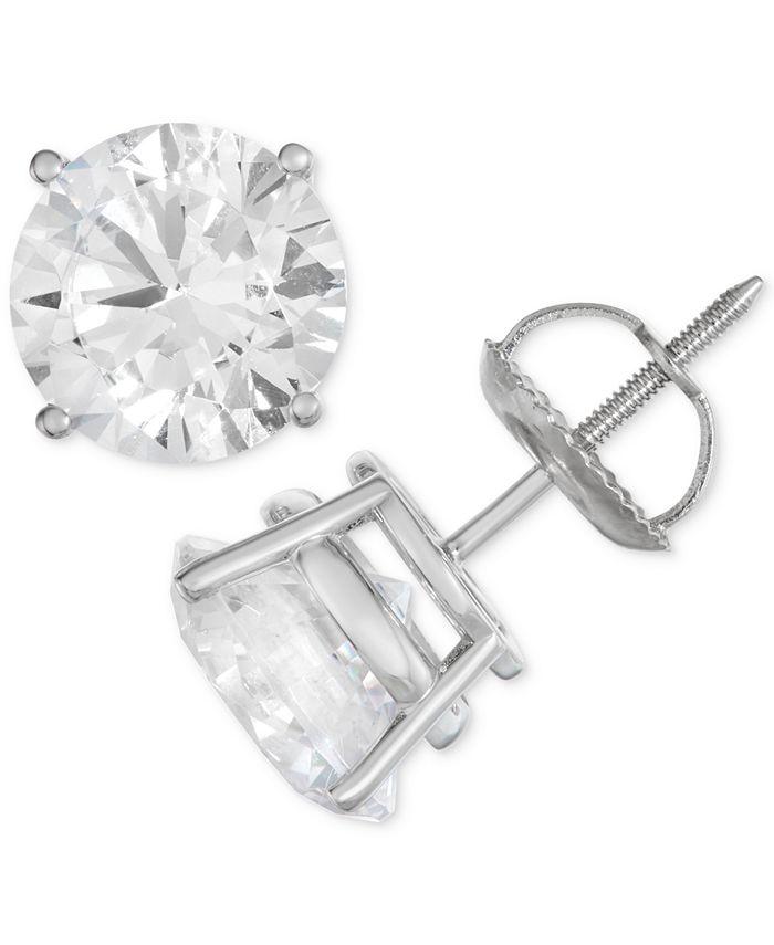 Macy's - Certified Diamond Stud Earrings (1 ct. t.w.) in 14k White Gold