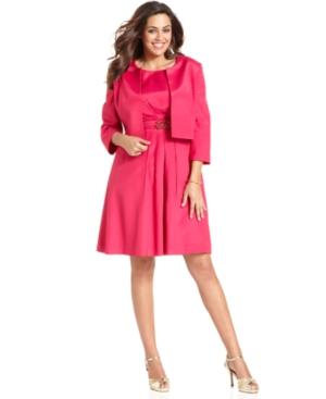 Buy macys & suits - Nipon Boutique Plus Size Suit, Bolero Jacket A-Line Dress