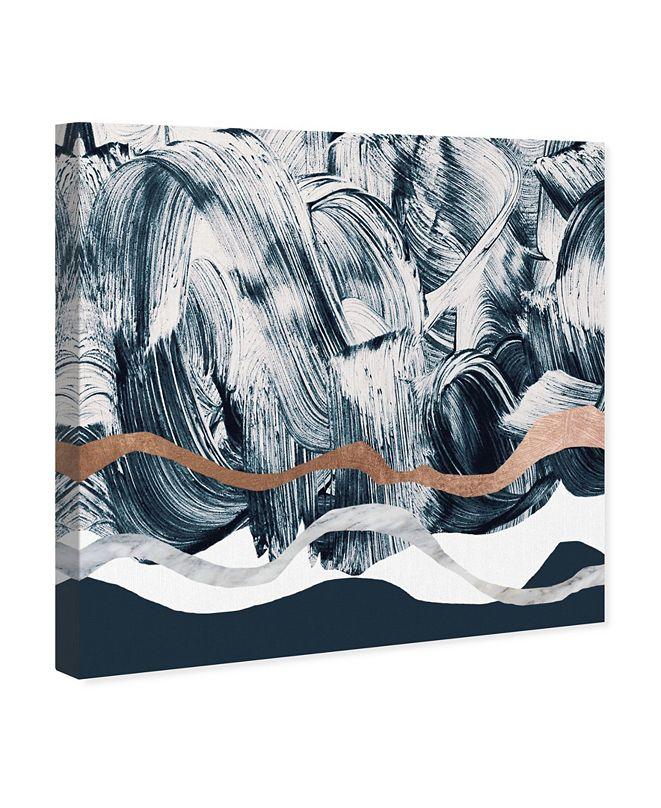 "Oliver Gal Bath in Copper Mountain Canvas Art, 16"" x 16"""