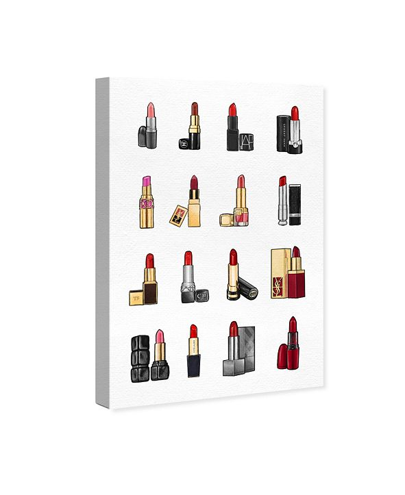 "Oliver Gal Lipsticks Canvas Art, 10"" x 15"""