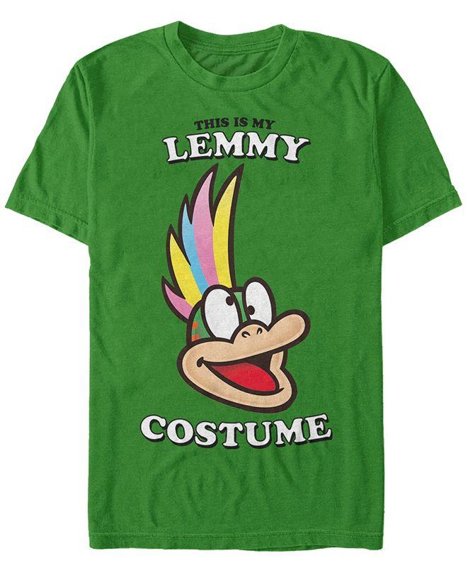 Fifth Sun Nintendo Men's Super Mario Lemmy Halloween Costume Short Sleeve T-Shirt