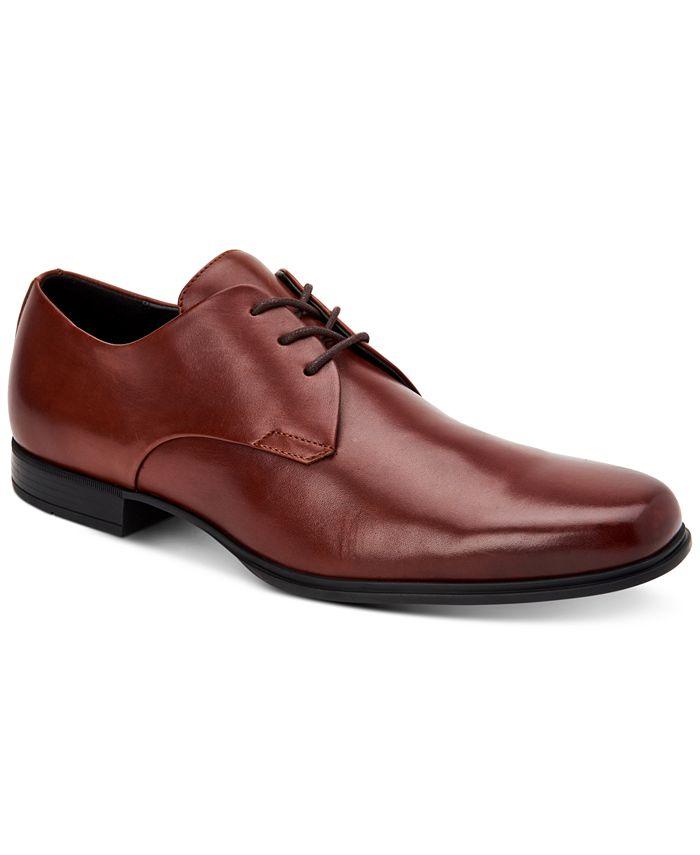 Calvin Klein - Men's Dillinger Crust Leather Oxfords
