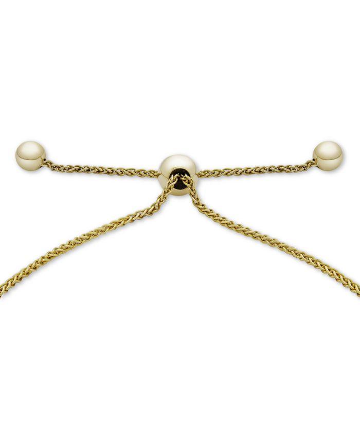 Wrapped Diamond Interlocking Loop Bolo Bracelet (1/3 ct t.w.) in 14k Gold, Created for Macy's & Reviews - Bracelets - Jewelry & Watches - Macy's