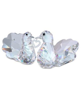Swarovski Collectible Figurines, Set of 2 Love Turtledoves