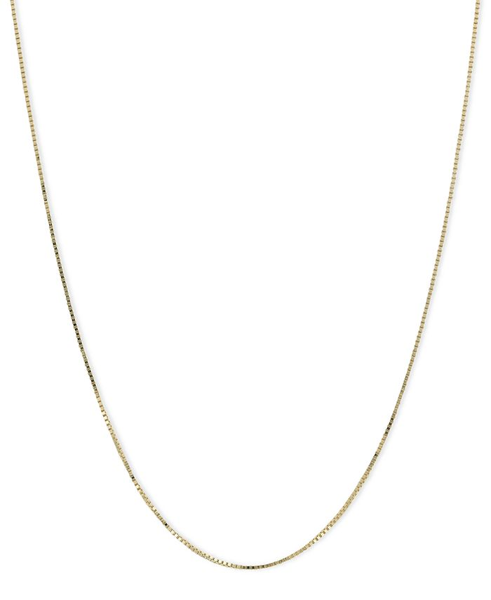 "Macy's - 14k Gold Necklace, 18"" Plain Box Chain"